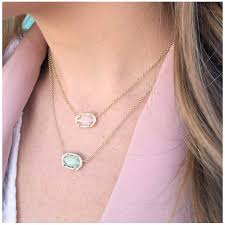 kendra scott elisa gold pendant necklace in rose quartz precious accents ltd