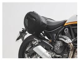sw motech blaze saddlebag system ducati scrambler 2015 2018 revzilla