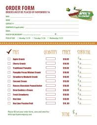 pie order form template part 2 of a custom menu order form we created for delicious