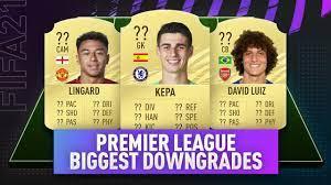 FIFA 21 - BIGGEST PREMIER LEAGUE RATING DOWNGRADES! (Lingard, David Luiz) -  YouTube