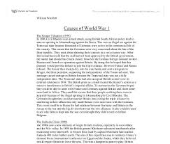 causes of world war gcse history marked by teachers com document image preview