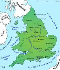 England: Landkarte, Geografie   Länder   England