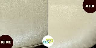 vinegar is by far the best household cleaner that you can use to clean leather as it won t damage the leather surface leather is acidic and has a ph level