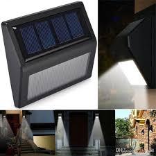 2018 6 led solar powered motion sensor light outdoor garden wall lamp modern wall light solar stair fence lights security solar lawn lamp from flymall