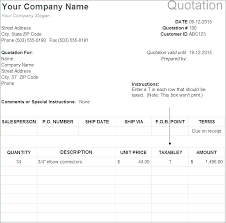 Service Quotation Excel Sales Quote Template Print Request Form Wiini Co