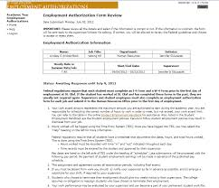 Online Student Employment Authorization Form: A User's Guide For ...