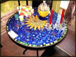 diy glass mosaic table top glass mosaic table sun in blue field home interior design pictures diy glass mosaic table top