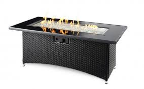 room montego linear gas fire pit table