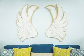 medium size of silver angel wing wall decor small large feather for