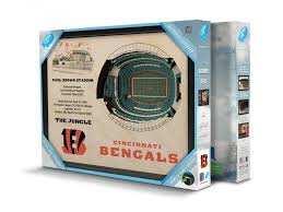 Atlanta Falcons Seating Chart 3d Stadiumviews Wall Art Cincinnati Bengals Stadiumview 3d Wall