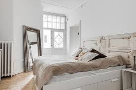 chic bedroom inspiration gray. Shabby-chic Master Bedroom With Full-size Mirror And White Walls.Photo By REVENY - Discover Design Ideas Chic Inspiration Gray E