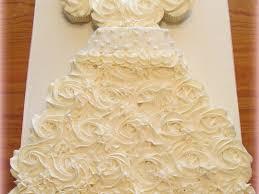 Bridal Dress Cupcake Cake CakeCentral