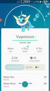 vaporeon are these skills good worth leveling up pokemongo questionvaporeon