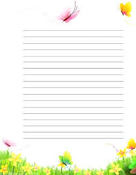 Primary Letter Writing Paper Butterfly Writing Paper Diyetisyenbul Info
