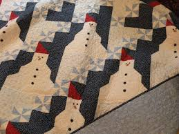 Quilt Inspiration: Free pattern day: Snowflake and snowman quilts & With their generous permission we are providing the free Snow Days pattern  to Quilt Inspiration readers. You can see a finished snowman quilt, which  turned ... Adamdwight.com