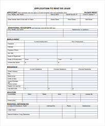 Room For Rent Application Rental Application 21 Free Word Pdf Documents Download