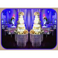 suspended hanging chandelier wedding cake stand 18 24 30 chandelier cake stand with beautiful hanging acrylic crystals with a french drop with rgb