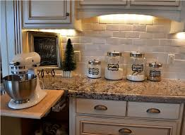 Cheap Kitchen Backsplash Ideas White Stone Backdrop Modern Design Large  Square Stayed Wooden Dresser Smooth Painted Clean Area