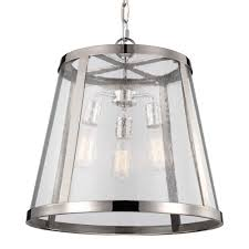 restoration warehouse harrow 3 light pendant polished nickel