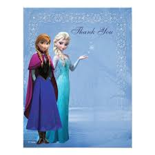 snowflake thank you cards frozen anna and elsa snowflake thank you card zazzle com