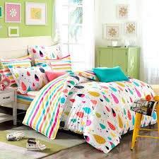 orange blue and red colorful rain drop with rainbow stripe sheet pastel style personalized cotton twin orange and blue comforter red dream set