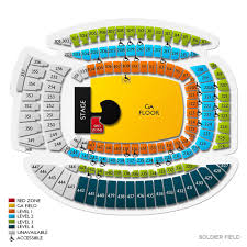 Soldier Field Concert Tickets And Seating View Vivid Seats