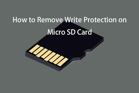 how to remove write protection on micro
