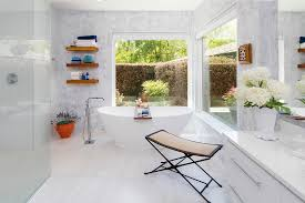 space with floating shelves