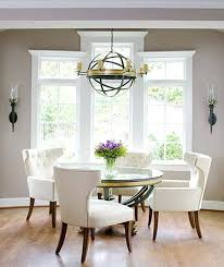 dining room with light grey walls