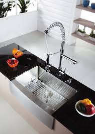 faucet kpf ksd pre rinse kitchen faucet set kraususa single lever pull out and soap dispenser