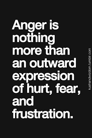 Anger Quotes Interesting Anger Is Nothing More Than An Outward Expression Of Pain Fear And