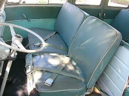 vw camper front seat original como green