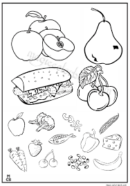 Small Picture Fruit vegetable Coloring Pages