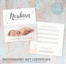 Photography Gift Certificate Template Newborn Photography Gift Certificate Template Vg014 Paper Lark Designs