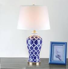 blue and white lamps. Blue White Vintage Porcelain Ceramic Table Lamp Bedroom Living Room Wedding Antique And Lamps Full Size A