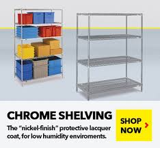 chrome wire shelving units for medical pharmaceutical retail food s from ssi