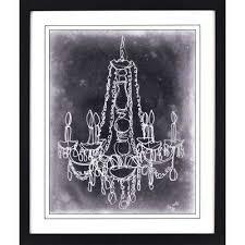 sketched chandelier printed framed wall art