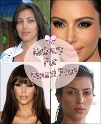 so what are the tricks for doing makeup for a round face shape