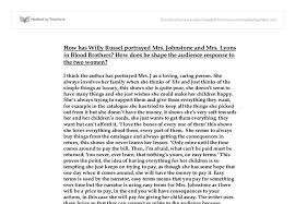 how has willy russell portrayed mrs johnstone and mrs lyons in  document image preview