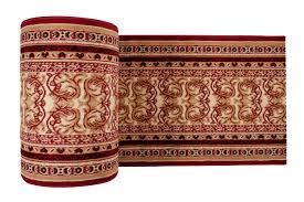 Klassischer Teppichläufer Läufer Für Flur Wohnzimmer Küche Rot