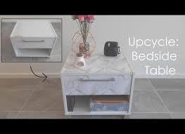 diy upcycle marble bedside table kmart instagram
