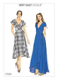 Dress Patterns Inspiration Vogue Patterns 48 MISSES' WRAP DRESSES WITH TIES SLEEVE AND