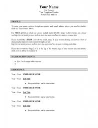 Free Online Resume Templates Experience Resumes