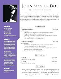 Resume Sample Doc Stunning Curriculum Vitae Doc Resume Sample Template Download Format File