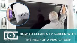 How to Clean an LED, LCD or Plasma TV Screen w/ Best MicroFiber Cleaning  Cloth - YouTube