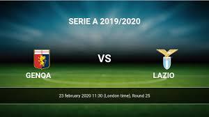 Genoa - Lazio livescores result Serie A 23 feb 2020