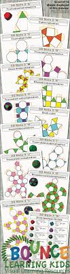 Truncated Solids Chart 3d Nets 3 Print And Fold Archimedean Solids