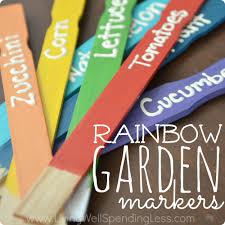diy rainbow garden markers diy rainbow markers diy garden markers garden markers ideas