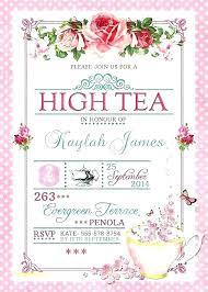 tea party templates tea party invitation birthday invitations by templates free