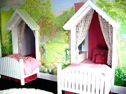 Canopy Bed For Little Girl Uk American Doll Diy Decoration Twin ...